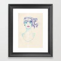 Bluish  Framed Art Print