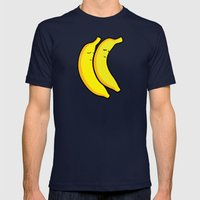 Spooning Bananas Mens Fitted Tee Navy SMALL