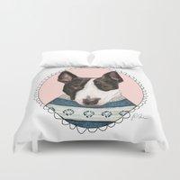 Bull Terrier Duvet Cover