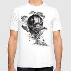 Lost Translation White SMALL Mens Fitted Tee