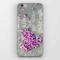 Kisses On The Sidewalk iPhone & iPod Skin