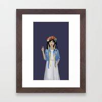 Jean Jacket Ukrainian Framed Art Print