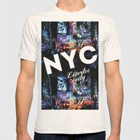 NEW-YORK (LIBERTEE CITY) Mens Fitted Tee Natural SMALL
