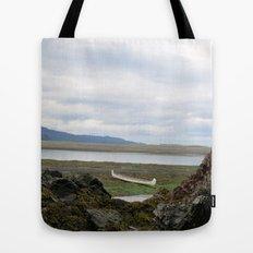 Abandoned :: A Lone Canoe Tote Bag