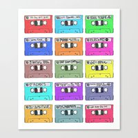 Cassettes - Mixing It Up Canvas Print