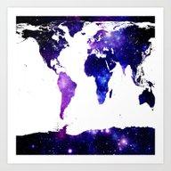 Art Print featuring World Map. by WhimsyRomance&Fun