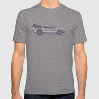 Famous Car #2 - Delorean Mens Fitted Tee Tri-Grey SMALL