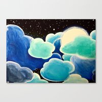 Blue Night Canvas Print