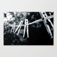 Night Laundry Canvas Print