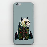 panda silver iPhone & iPod Skin