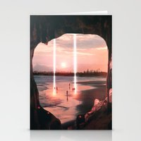 Escape through the light II Stationery Cards