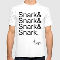 #Snark Mens Fitted Tee White SMALL