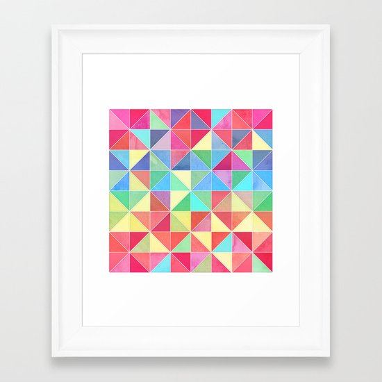 Rainbow Prisms Framed Art Print
