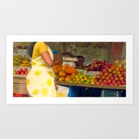 Torso At Fruit Stand, Ch… Art Print
