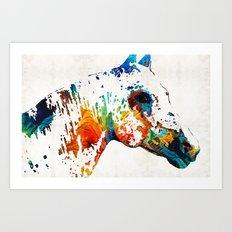 Colorful Horse Art - Wil… Art Print