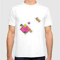 Optical Illusion_grey Mens Fitted Tee White SMALL