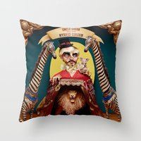 Uncle Edgar and the Hybrid Circus Throw Pillow