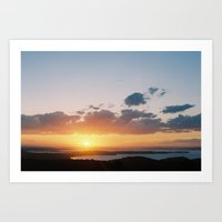 Sun Over Water Art Print
