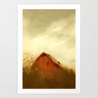 Big Sky and Barn Art Print