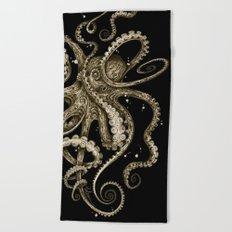 Octopsychedelia Sepia Beach Towel
