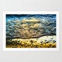 Pebble Sunset Art Print