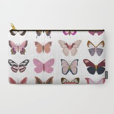 Pink Butterfly Collage Carry-All Pouch