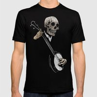 Skullboys' Banjo Blues Mens Fitted Tee Black SMALL