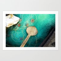 Fishing Nets Art Print