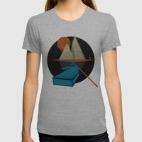 Mountain & Stars Womens Fitted Tee Athletic Grey SMALL