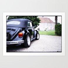 Vintage Volkswagon Beetle Art Print