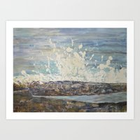 GIANT WAVE Art Print