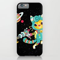iPhone & iPod Case featuring Kitty Cat Space Captain by Polite Yet Peculiar