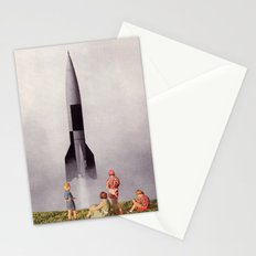 future in technicolor Stationery Cards