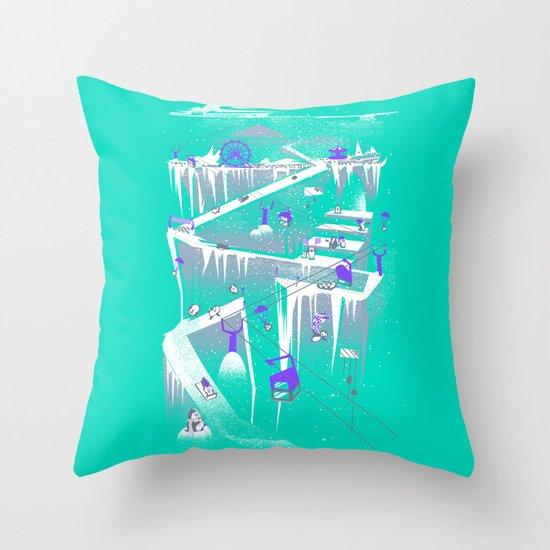 Penguins (flat, palette swap) Throw Pillow