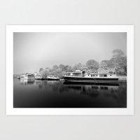 Ghost Boats Art Print