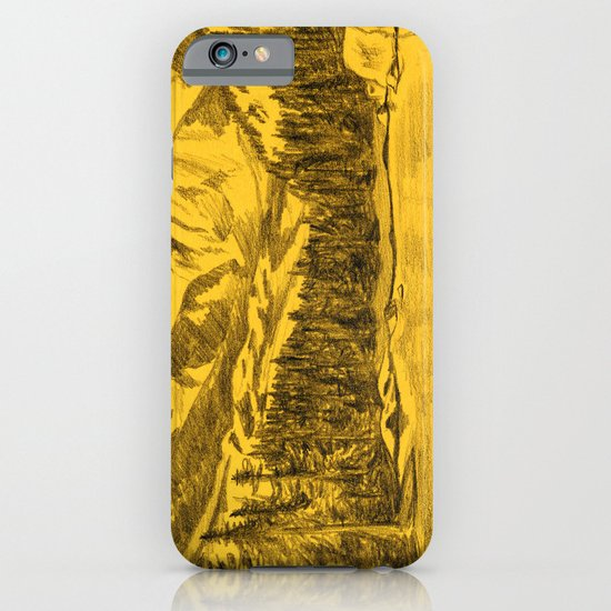 Yellow Rocky Mountains iPhone & iPod Case