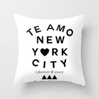 (EXTRA BOLD) TE AMO NEW … Throw Pillow