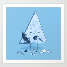 Bermuda triangle Art Print