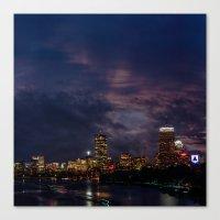 Boston At Night  Canvas Print