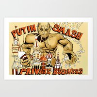Putin On The Ritz Art Print