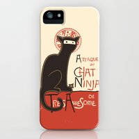 iPhone 5s & iPhone 5 Cases featuring A French Ninja Cat (Le Chat Ninja) by Kyle Walters