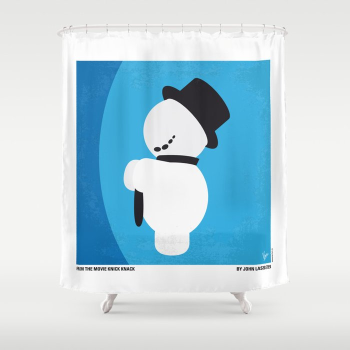 No172 my knick knack minimal movie poster shower curtain for Bathroom knick knacks