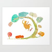 Does a Bear Shred in the Woods? Art Print