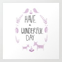 Wonderful Day Art Print
