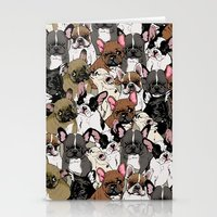 Social Frenchies Stationery Cards