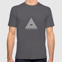 Explore Mens Fitted Tee Asphalt SMALL
