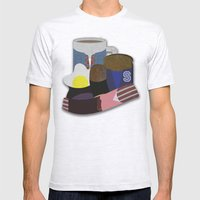 Breakfast Club Mens Fitted Tee Ash Grey SMALL