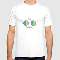 Colorful Mens Fitted Tee White SMALL