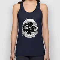 Depth of Discovery (A Case of Constant Curiosity-B/W) Unisex Tank Top