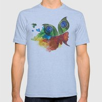 colorful butterfly Mens Fitted Tee Athletic Blue SMALL